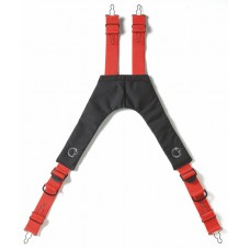 LION V-Back™ Quick Adjust Stretch Padded Suspenders, Red