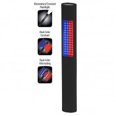 NSP-1170 LED Safety Light - Alternating Red-Blue Floodlight & White Flashlight - Black Soft Touch