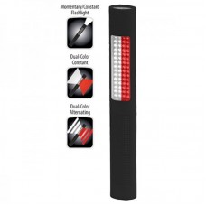 NSP-1172 LED Safety Light - Alternating Red-White Floodlight & White Flashlight - Black Soft Touch