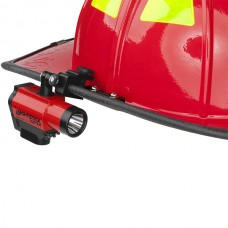 Nightstick XPP-5466R Intrinsically Safe Helmet-Mounted Dual-Light Flashlight- Red