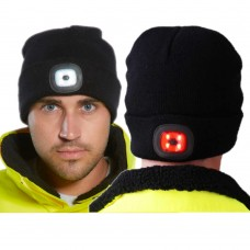 Portwest B028  Rechargeable Twin LED Beanie