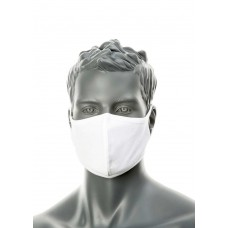 CV22 - 2-Ply Anti-Microbial Fabric Face Mask (Package of 25) White