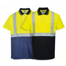 Hi-Vis Two-Tone Polo Shirt Yellow/Navy