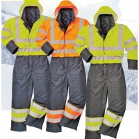 Hi-Vis Contrast Coverall (Lined)