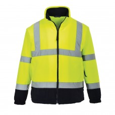 Hi-Vis Two-Tone Fleece , Yellow/Navy