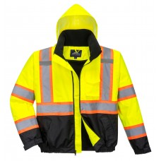 Hi-Vis 2-in-1 Contrast Tape Bomber Jacket