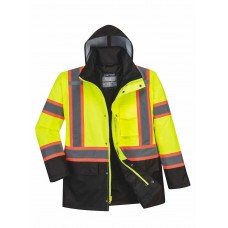 Hi-Vis Contrast Tape Traffic Jacket Yellow/Black