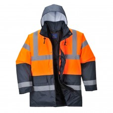 Hi-Vis Two Tone Traffic  Jacket Orange/Navy