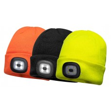 Portwest B029 Beanie LED Head Light USB
