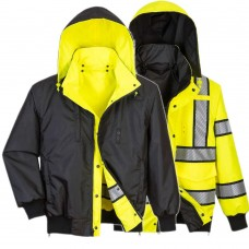Hi-Vis Reversible Bomber Jacket Yellow/Black