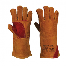Portwest Reinforced Welding Gauntlet Gloves- XL