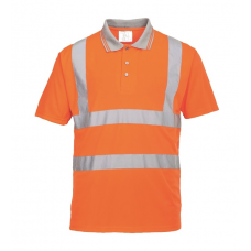 Hi-Vis Short Sleeve Polo Shirt Orange