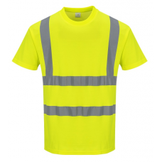 Hi-Vis Cotton Short Sleeved T-Shirt Yellow