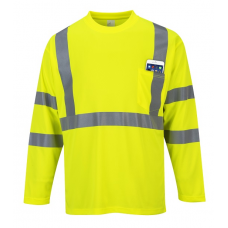 Hi-Vis Long Sleeve Pocket T-Shirt