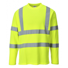 Hi-Vis Cotton Long Sleeved T-Shirt