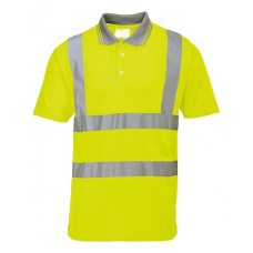 Hi-Vis Short Sleeve Polo Shirt Yellow
