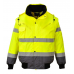 Hi-Vis Contrast Bomber Jacket Yellow/Navy
