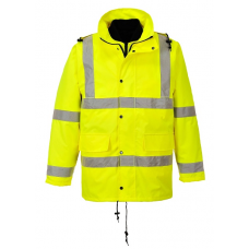 Hi-Vis 4-in-1 Traffic  Jacket - Yellow