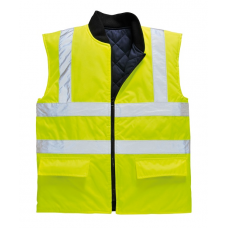 Hi-Vis Reversible Bodywarmer Vest Yellow