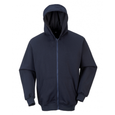 FR Zipper Front Hooded Sweatshirt Navy