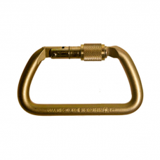 RNR Large D Shaped Steel Screw Locking Carabiner