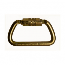 RNR Large D Shaped Steel Twist Lock Carabiner