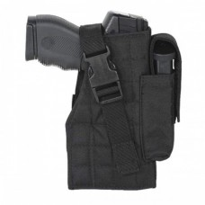 Large Frame Adjustable Hip Holster Black