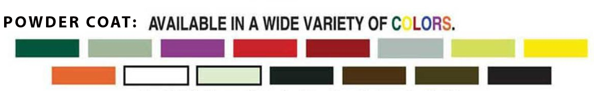 shown here is a wide variety of color coding choices to help identify your fire departments equipment