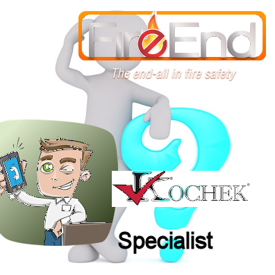 Man on smartphone calling Fire-End the Kochek specialist