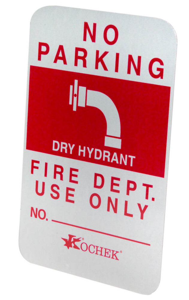 kochek dry hydrant sign no parking