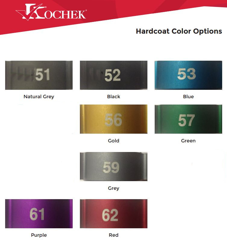 kochek offers hardcoat color options