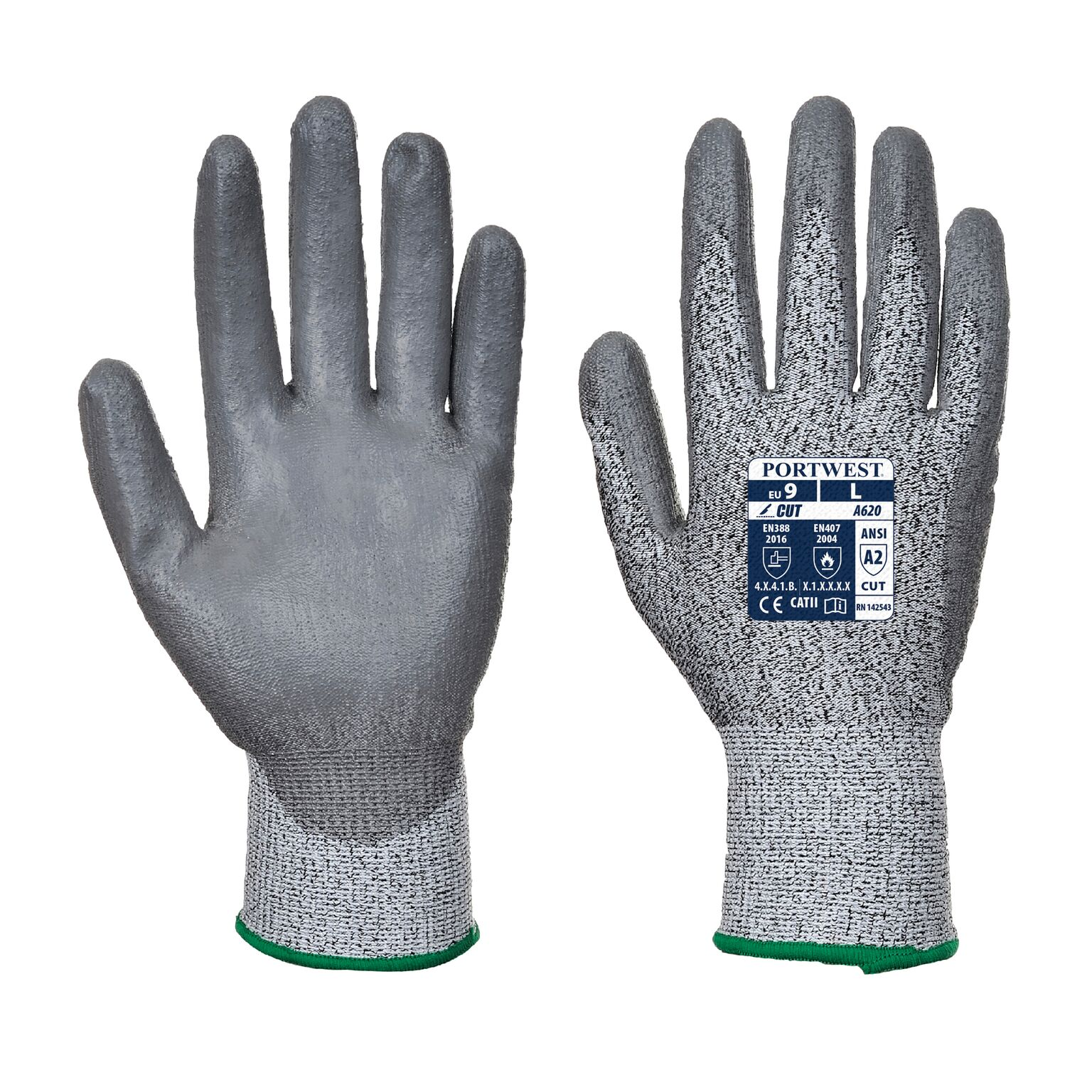 portwest a620 lr cut pu palm gloves