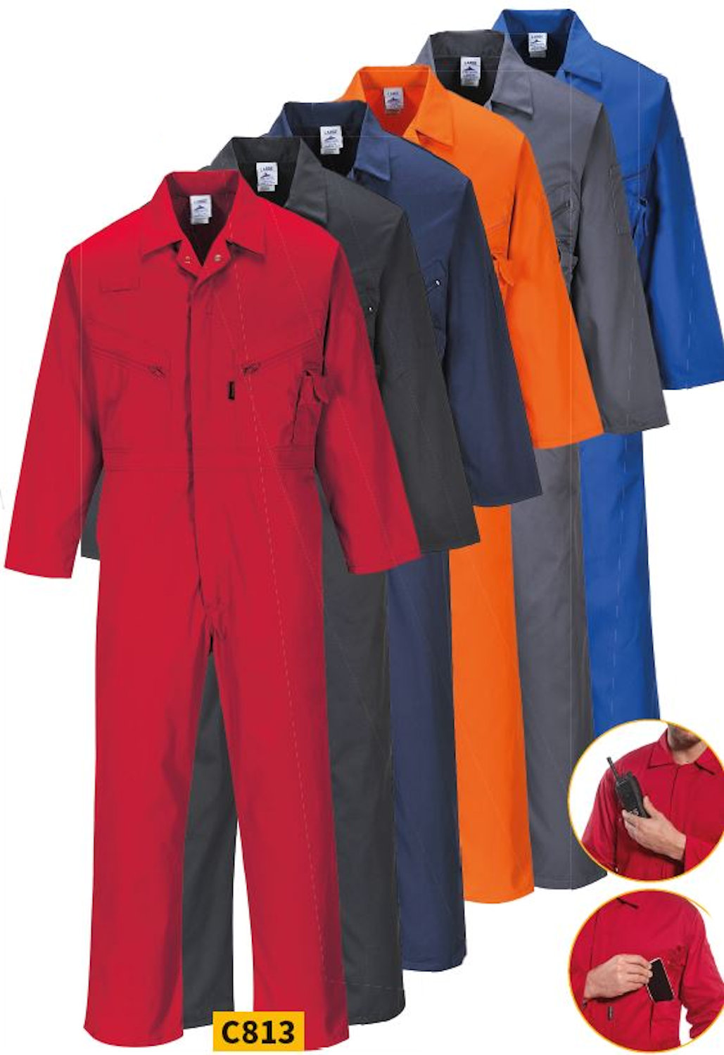 portwest c813 liverpool coveralls