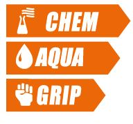Good grip waterproof chemical glove