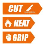 food cut  grip and heat gloves