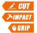 cut impact therm glove