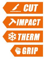 cut impact therm grip glove