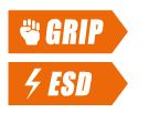 Grip ESD protection