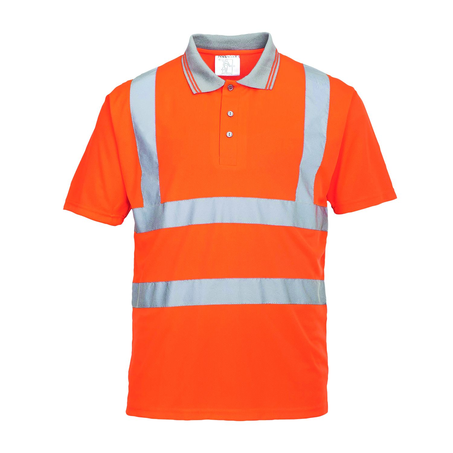 Portwest Rt22 Hi Vis Short Sleeve Polo Shirt