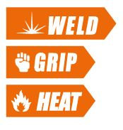 Welding grip and heat