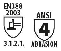 ANSI 4 abrasion gloves