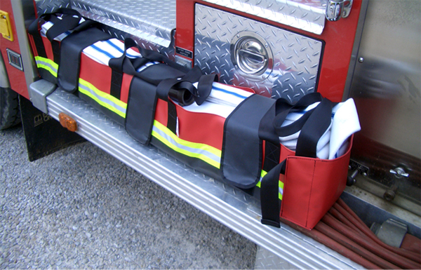milwaukee strap hose pack on truck
