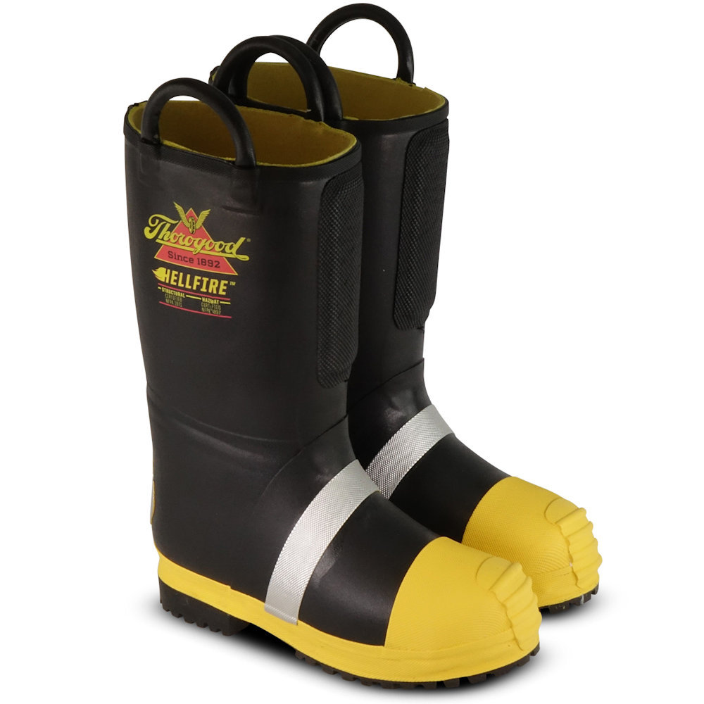 804-6000 thorogood hellfire kevlar insulated rubber bunker boots